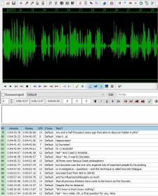 Создание субтитров для видео/аудио