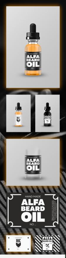 """Разработка наклейки """"Alfa Beard Oil"""""""
