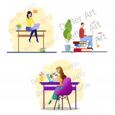 Иллюстрации в стиле флэт-Flat design