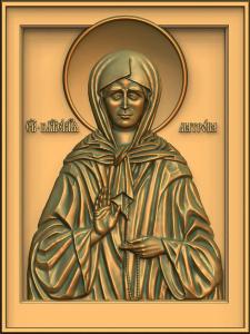 Икона ''Святая блаженная Матрона московская''.