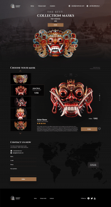 Landing page of Indonesian masks