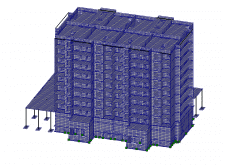 Расчетная схема 9-ти эт. дома в МОНОМАХ-САПР 2013