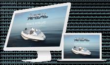 Лендинг компании «Ареал» лодки из стеклопластика