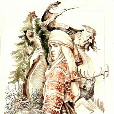 Ілюстрація за мотивами української легенди