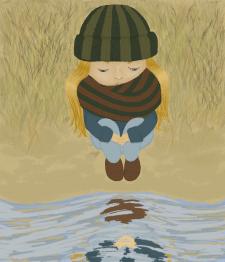 Дівчинка біля води