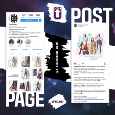 Дизайн презентации Instagram групп