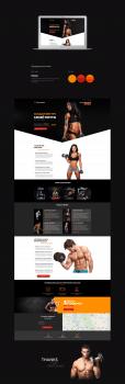 Landing Page Фитнес Клуба / Fitness Club