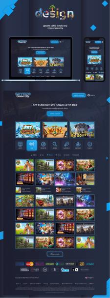 Дизайн cайта игровых автоматов онлайн