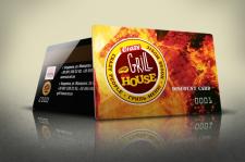 Дизайн дисконтных карт Grill House