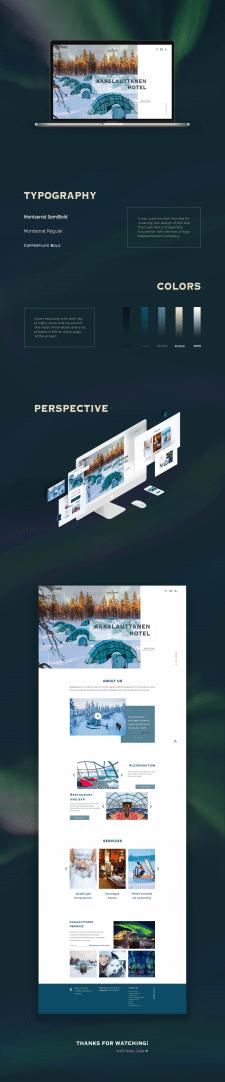 Редизайн сайта отеля Kakslauttanen Hotel
