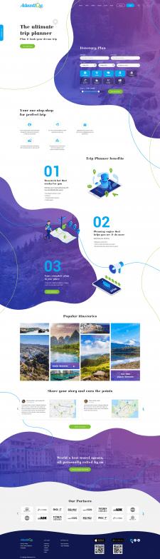 Дизайн сайта для туристов