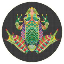 Схема для вышивки (лягушка)
