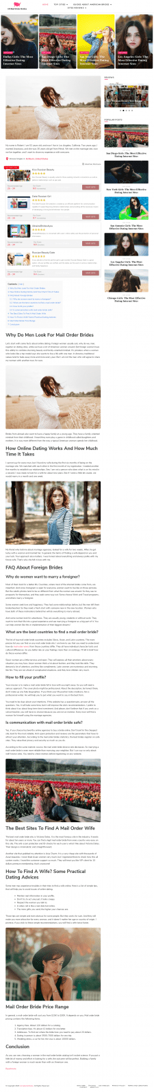 Why Do Men Look For Mail Order Brides
