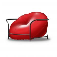 Реалистичная иконка кресла