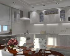 визуализация простой кухни