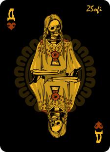 Spielkarten Indians- Skelette1