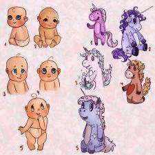 Варианты персонажей для детской книги