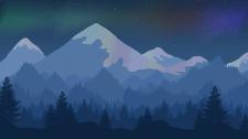 Зимняя ночь в горах