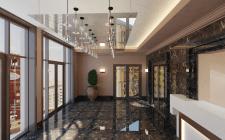 Дизайн холла жилого комплекса
