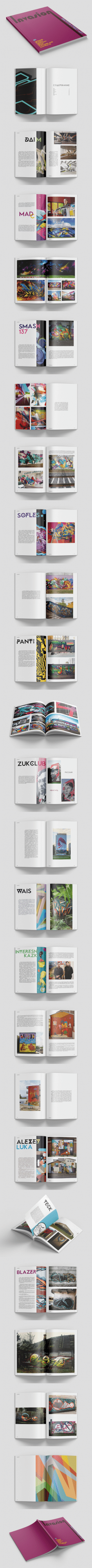 "Дизайн журнала о стрит-арте ""Invasion"""