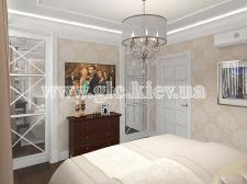 3-комнатная квартира в ЖК Лыбидь. Спальня