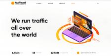 Создание сайта для Traffinad