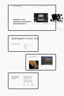 Редизайн сайта для IT студии