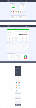 Admin dashboard UI