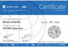 Certificate | ASP.NET Advanced