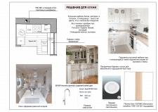 Концепция кухни в небольшой квартире 32 кв.м.