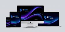 Разработка логотипа и фирменного стиля - Dwall Onl