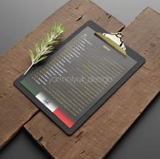 Дизайн меню піцерії
