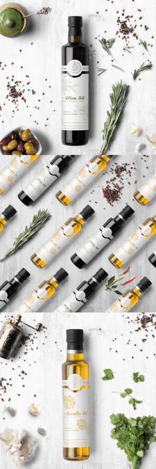 Дизайн этикетки оливкового масла