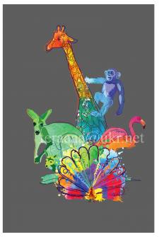 иллюстрация для афиши зоопарка