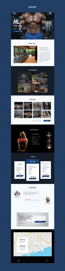 Landing Page - Fitness Club
