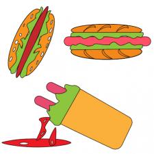 хот-доги векторная иллюстрация