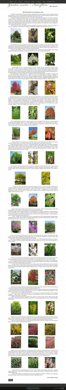 Малопоширені листяні дерева і кущі