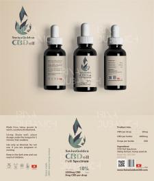 Дизайн этикетки для CBD oil