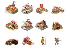 Отрисовка иконок и персонажей для стратегии.