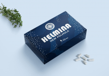 Дизайн упаковки для препарата HELMINA