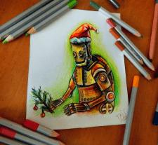 Рождественский робот