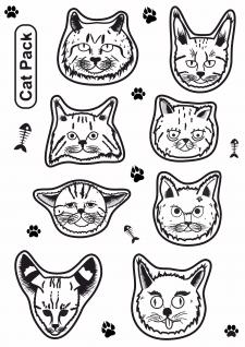 Котики стикеры