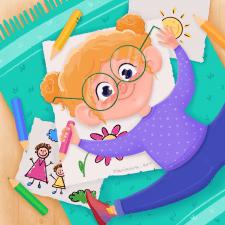Милая детская иллюстрация
