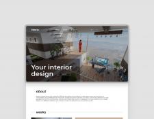 Разработка дизайна сайта для студии интерьера