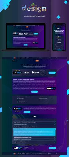 Дизайн сайта рейтингов букмекерской конторы