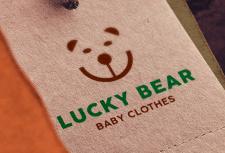 Логотип бренда детской одежды «Lucky Bear»