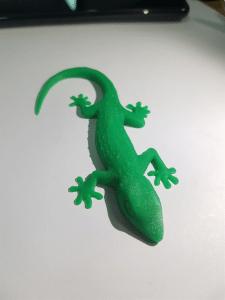 гекон напечатаный по моей модели