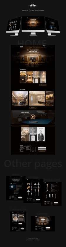 Сайт для Чешской компании по освещению
