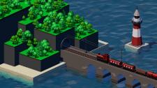 Низкополигональная анимация поезда