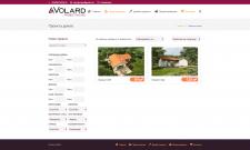Каталог проектов недвижимости с фильтром WP